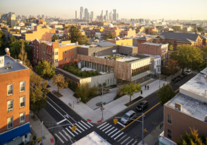 Greenpoint Library in Brooklyn, NY. Landscape designed by Scape Landscape Studio. Architecture by Marble Fairbanks.